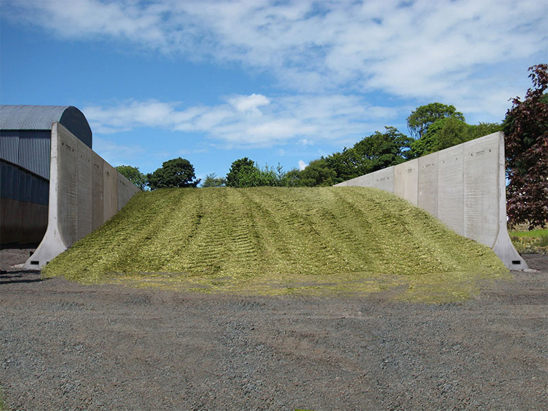 Bunker Walls used to construst Silage Pit