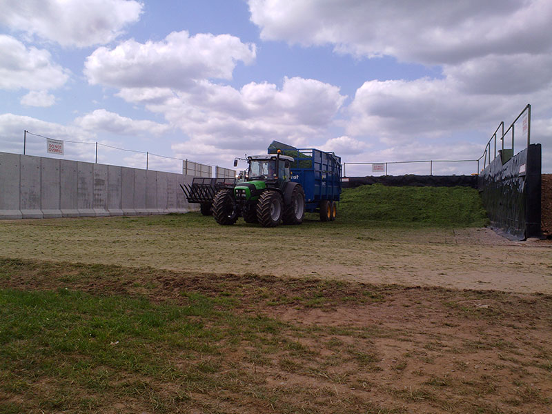Free Standing Retainer Walls used to form Silage Pit