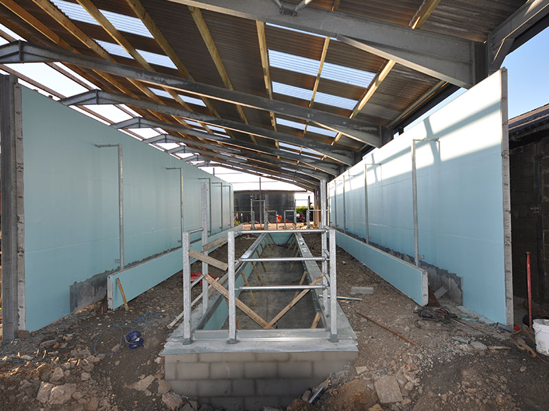 Parlour walls constructed using 100mm Prestressed Wall Panels 3.6m high