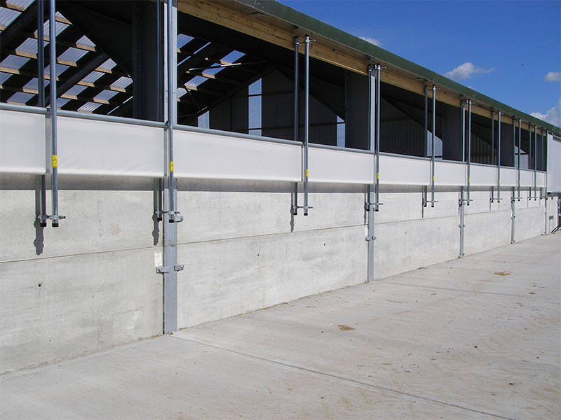 100mm Prestressed Wall Panels used to form perimeter walls in a Shed 2.4m high