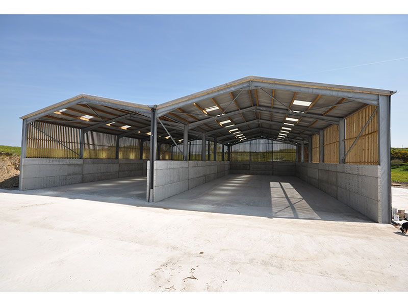 150mm Prestressed Wall Panels used to form walls 3.0m high in Dumfriesshire for storage area 5