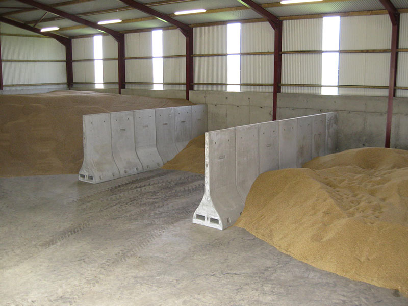 Bunker Walls used to divide grain