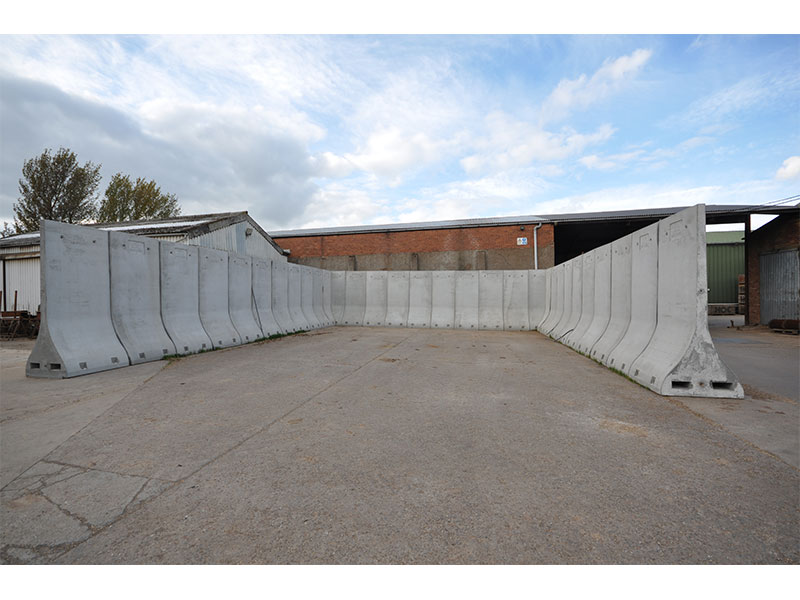 Bunker Walls used to make a temporary storage area for wet grain 3