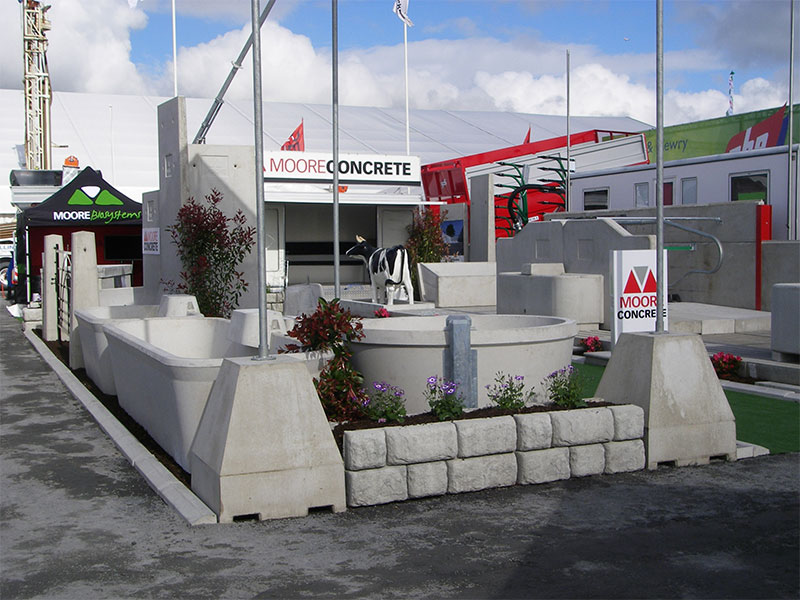 Concrete Flag Pole Holder used at an exhibition