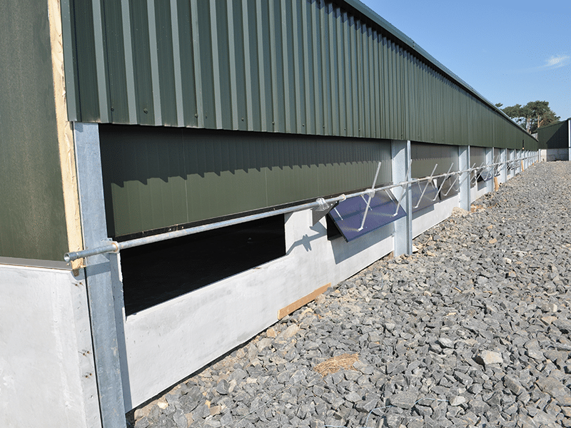 External walls in a new poultry unit formed using Prestressed Wall Panels