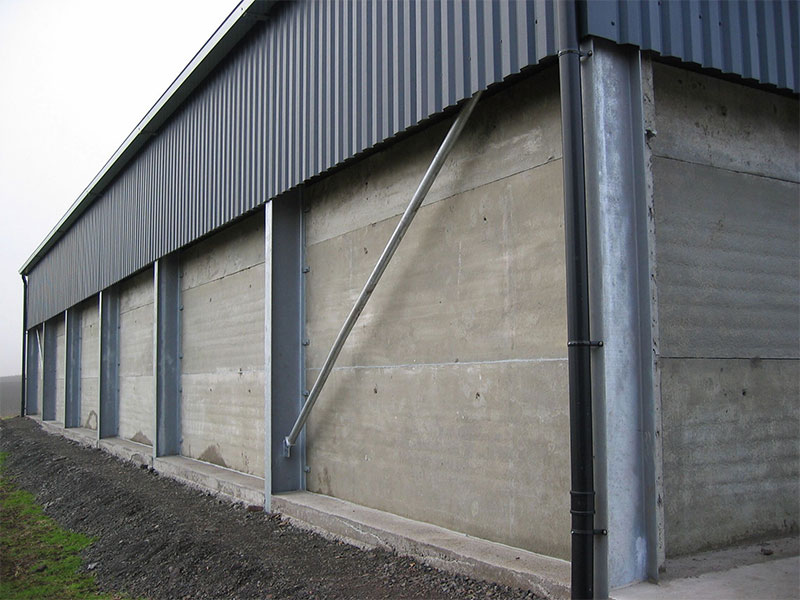New storage shed walls 3.6m high constructed using 150mm thick Prestressed Wall Panels
