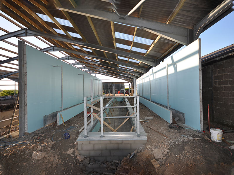 Parlour walls constructed using Prestressed Wall Panels in Ayrshire, Scotland 2