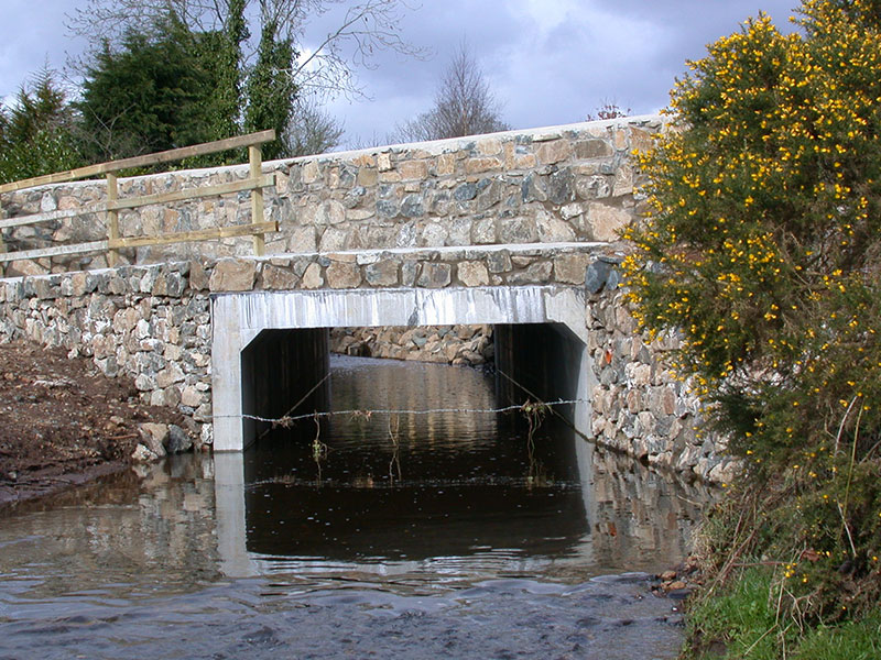 Precast Box Culverts used to Form Bridge