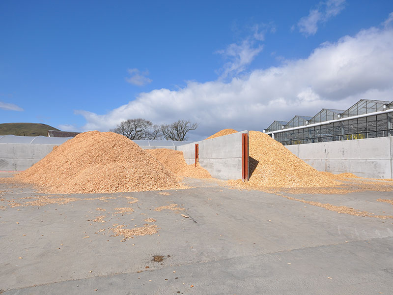 Prestressed Wall Panels used to form storage bays