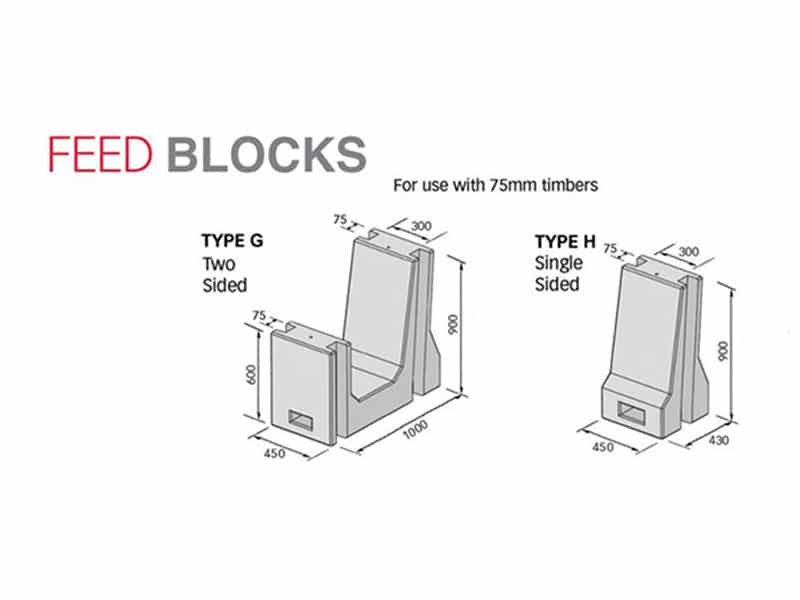 feed blocks